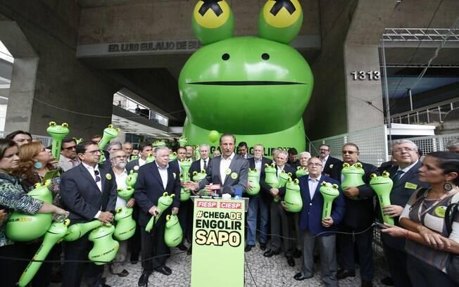 Paulo Skaf, presidente da Fiesp, lembrou de campanha