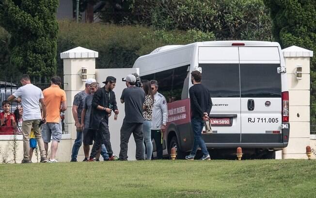 Neymar chegou de helicóptero à Granja Comary