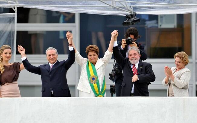 Em 1º de janeiro de 2011, Michel Temer assumiu o cargo de vice-presidente da República, ao lado da presidente Dilma Rousseff. Foto: Arquivo/Estadão Conteúdo - 01.01.2011