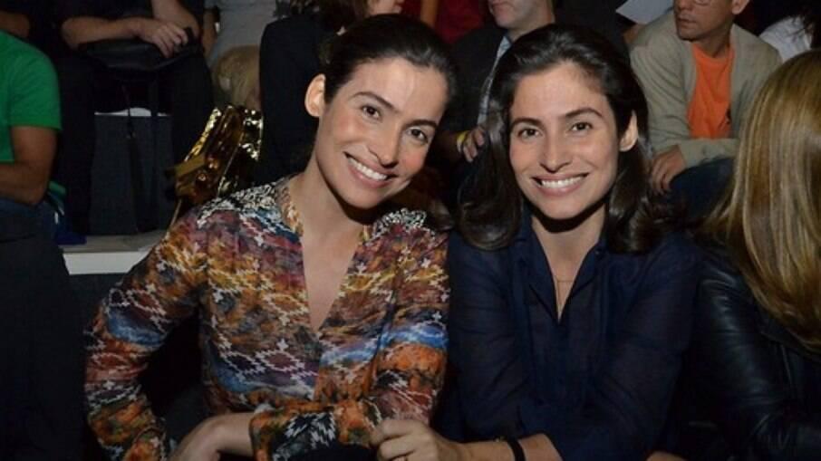 Quem é quem? Renata Vasconcellos e irmã Lanza Mazza....ou vice-versa