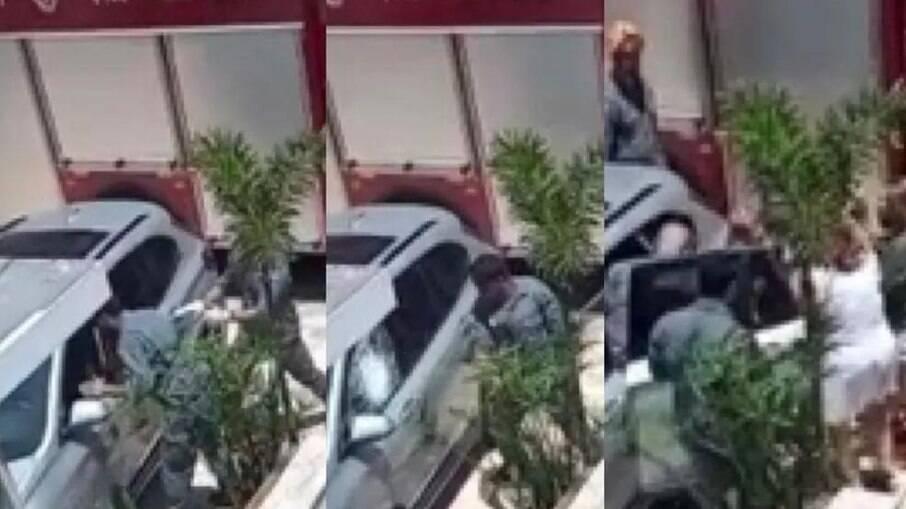Bombeiros estouram vidro para retirar criança do veículo