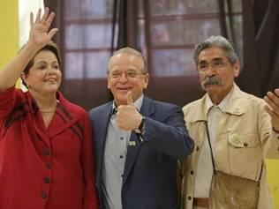 Dilma voltou em uma escola de Porto Alegre com Tarso Genro e Olívio Dutra