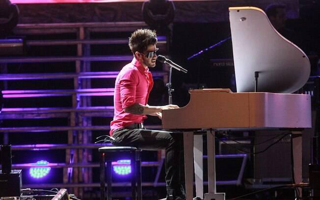 Gusttavo Lima em apresentação no Jaguariúna Country Festival