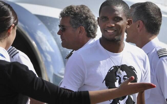 8º) Eto'o - jogador do Anzhi