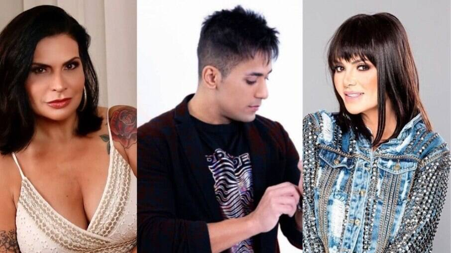 Solange Gomes, Tiago Piquilo e Valentina Francavilla