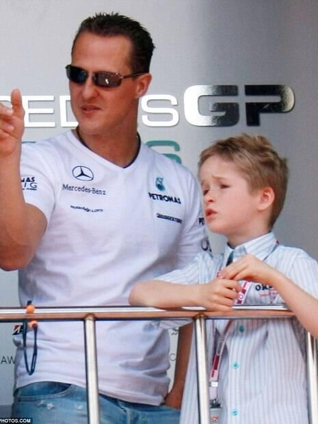 Michael Schumacher o filho Mick Schumacher