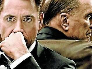 Robert Duvall (atrás) e Robert Downey Jr.: pai e filho
