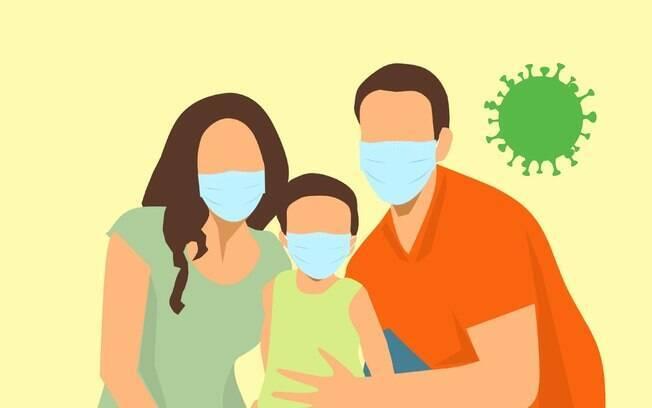 Conscientizar a criança mostrando personagens que ela gosta usando máscaras e falando sobre a situação da pandemia pode ajudar