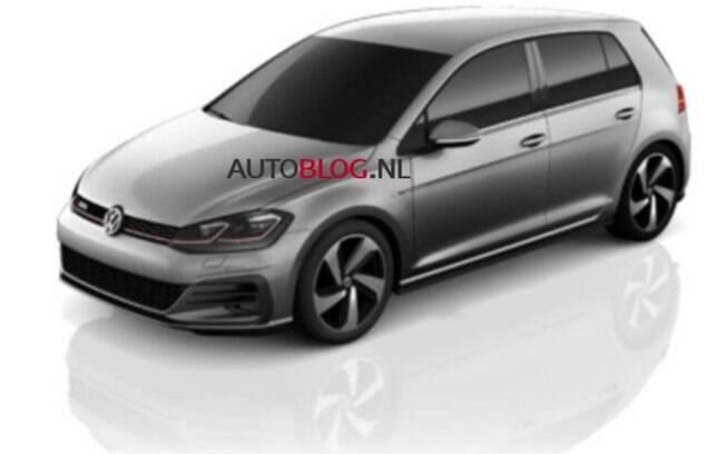 As primeiras imagens do Volkswagen Golf reestilizado mostram um novo para-choque e faróis full-LED.