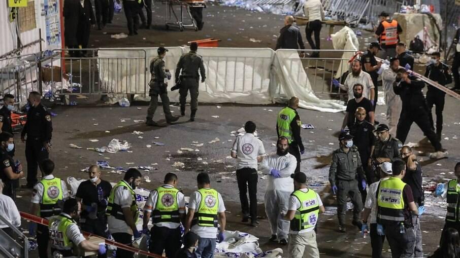 Tumulto em festival religioso deixa mortos em Israel; pelo menos 20 pessoas que foram pisoteadas estão em estado grave