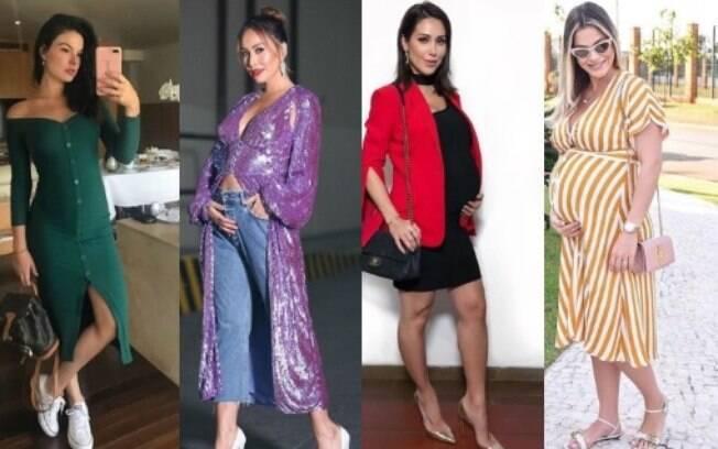 Precisa de ideias para comprar roupas de grávida? Aposte nos looks que as famosas estão usando e arrase por aí!