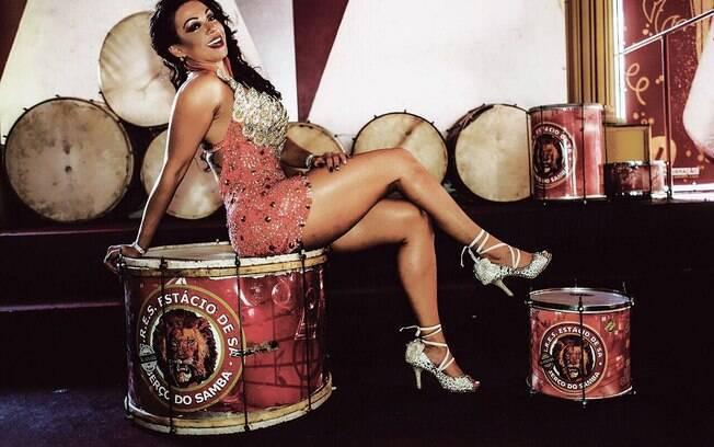 Leticia Guimarães também será madrinha de bateria da Estácio de Sá