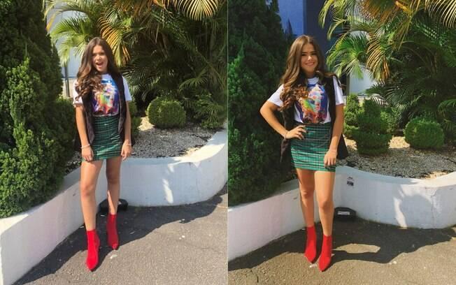 Maísa é uma das famosas  que apareceram fashion e  arrasaram nos looks durante a semana