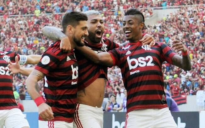 Gabigol, Bruno Henrique e Arrascaeta, os goleadores do Flamengo