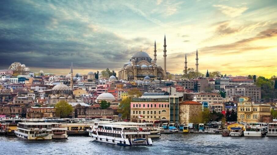 Imagens de Istambul usadas durante a viagem virtual