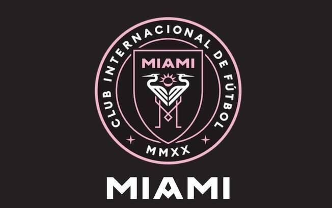Escudo do Inter Miami, time de Beckham que pode contratar Cristiano Ronaldo