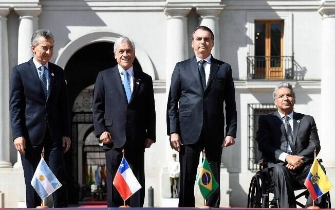 Bolsonaro ainda reiterou o interesse do Brasil em estreitar relações com Chile e elogiou o presidente Sebastián Piñera
