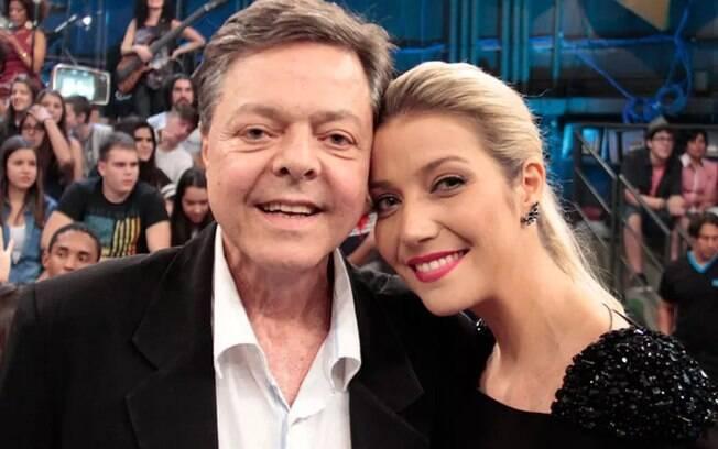 Luiza Possi e o pai Líber Gadelha