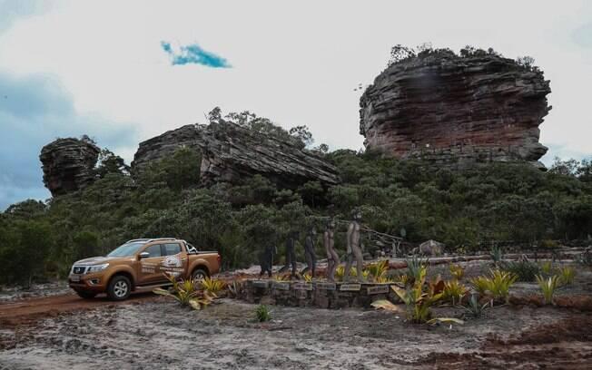 Expedição Nissan: belas paisagens que inclui relevos formados há milhares de anos fizeram parte do trajeto