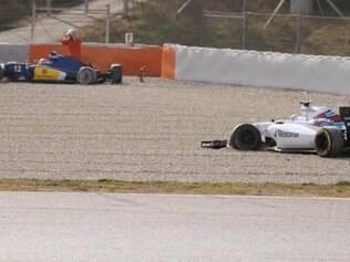 Susie Wolff, piloto da Williams afirmou que não viu Nasr passar e por isso se chocou com o brasileiro