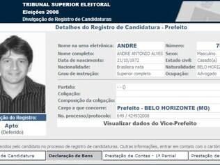 André Alves disputou a Prefeitura de BH em 2008