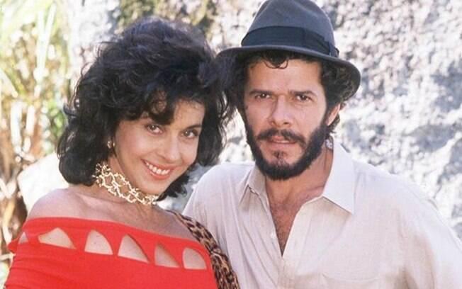 Tieta (Betty Faria) e Osnar (José Mayer) na novela de 1989 baseada em livro de Jorge Amado