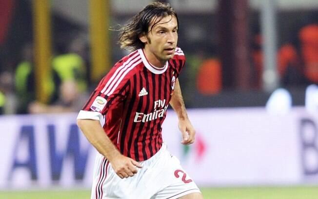 Hoje na Juventus, Pirlo se juntou ao Milan em  2001 após sair da rival Internazionale