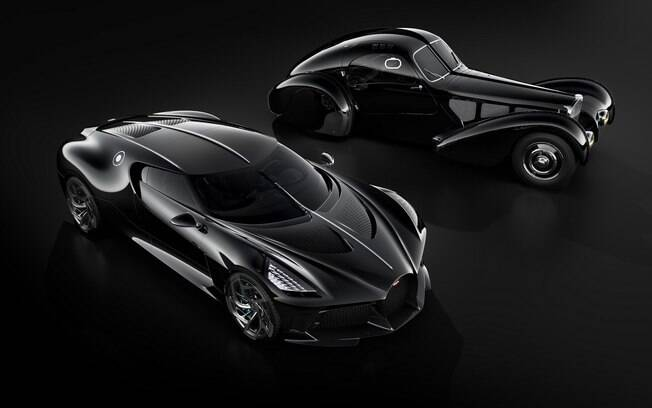 O Bugatti La Voiture Noire e o Type 57 SC Atlantic: homenagem bacana da marca francesa, mas pouco em comum.