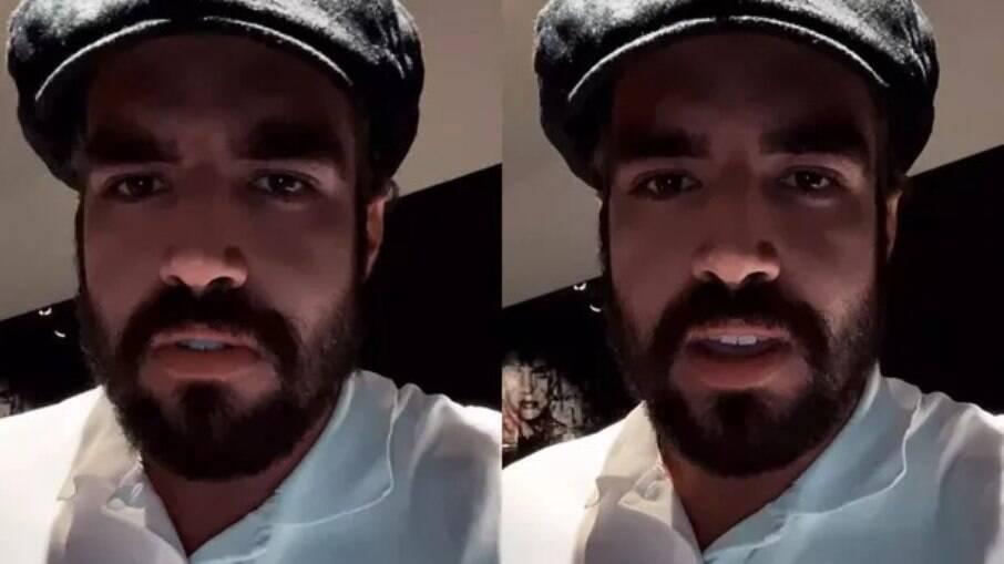 Caio Castro se pronuncia em vídeo no Instagram
