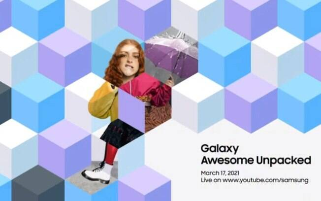 Convite para o Galaxy Awesome Unpacked