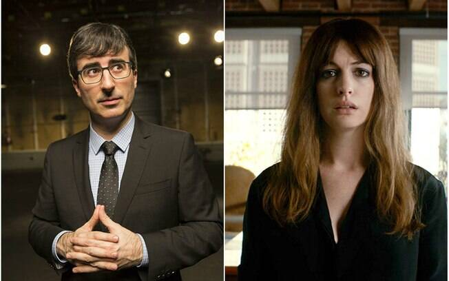 John Oliver e Anne Hathaway