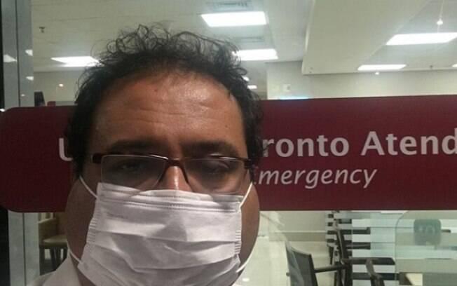 Geraldo Luís recebe alta depois de ficar internado em hospital com caxumba