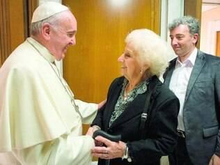 Encontro. Papa esteve recentemente com a presidente da ONG Avós da Praça de Maio, Estella de Carlotto