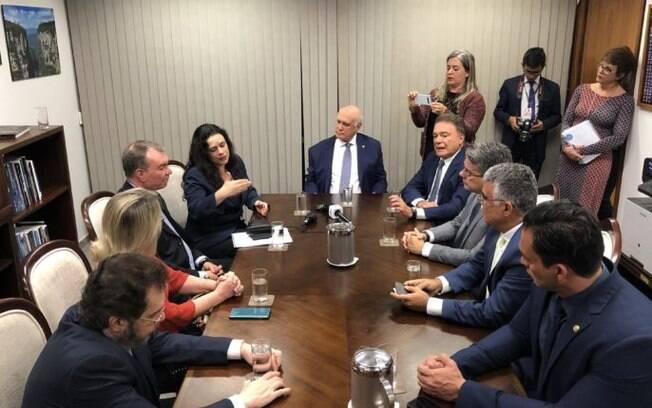 Janaína Paschoal se reuniu com senadores
