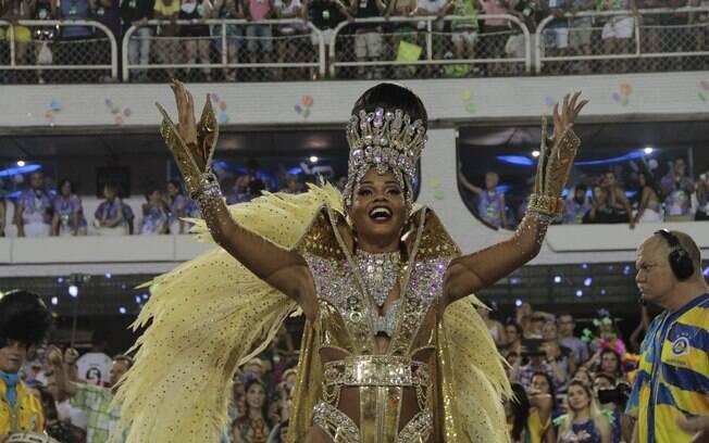 A rainha de bateria da Unidos da Tijuca, Juliana Alves