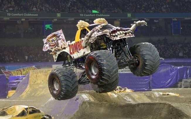Em 16 de dezembro, os veículos do Monster Jam vão estar na Arena Corinthians