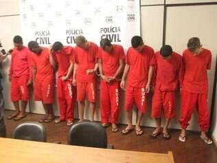 Oito suspeitos foram apresentados pela Polícia Civil nesta terça-feira