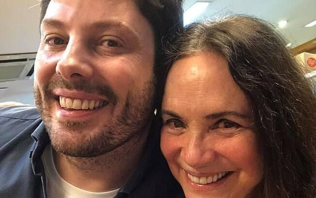 Regina Duarte e Danilo Gentili