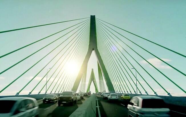 Imagem de como ficará a Ponte Santos Guarujá