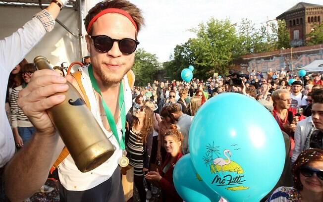 Foto das Olimpíadas Hipster, em Berlim, na Alemanha, em julho de 2012