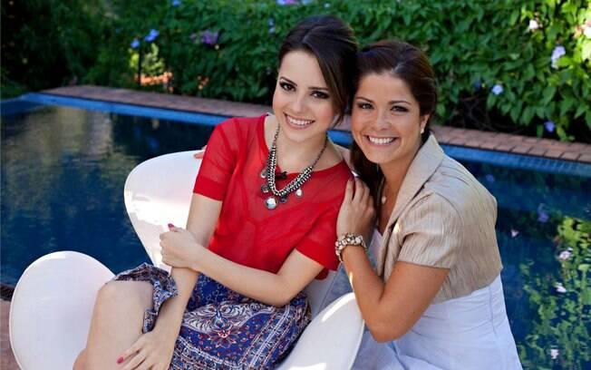 Sandy e Samara Felippo durante gravação para o