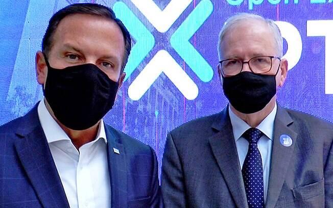 Governador João Doria e Marco Antonio Zago, presidente da Fapesp.