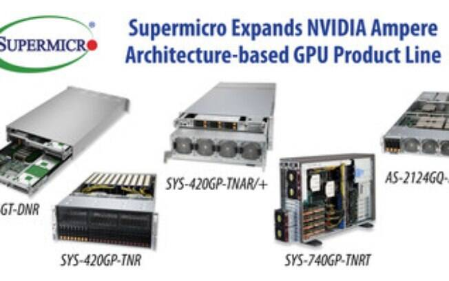 Supermicro amplia linha de GPUs com base em arquitetura NVIDIA Ampere para IA empresarial incluindo uma com desempenho de 5 petaFLOPS que é a primeira do setor em uma plataforma de IA 4U de nível 1