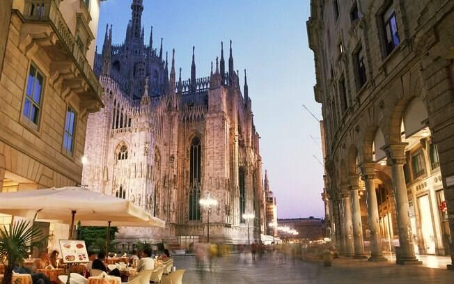 Nos restaurantes de Milão não deixe de provar o risoto, prato típico da região da Lombardia