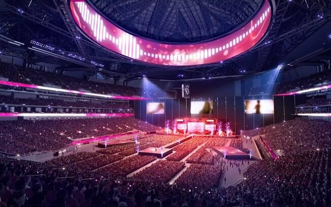 O estádio receberá shows