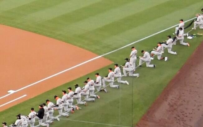 Beisebol faz protesto