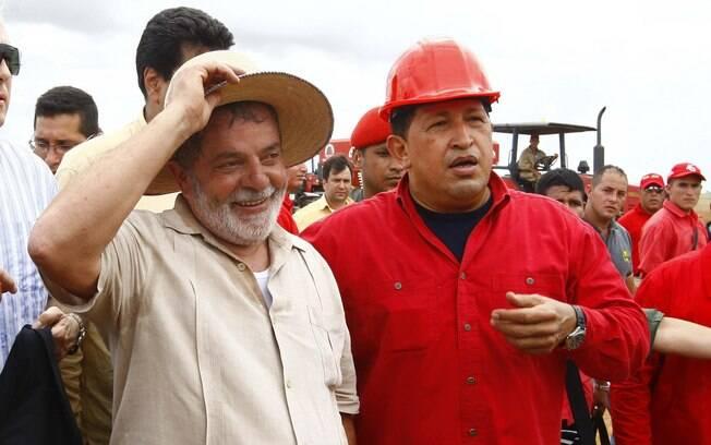 Em outubro de 2009, o então presidente brasileiro Lula visitou Chávez em Caracas