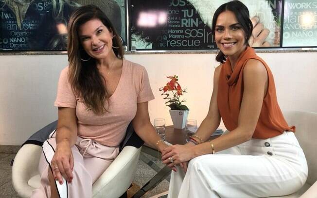 Cristiana Oliveira em entrevista para Daniela Albuquerque, do programa