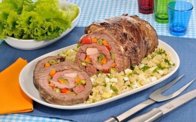 Receitas de carne recheada para um cardpio especial
