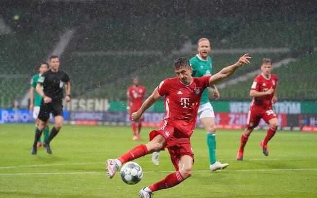 Lewandowski marcou o gol que deu o título alemão ao Bayern